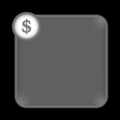 gray frame for any white text with dollar sign