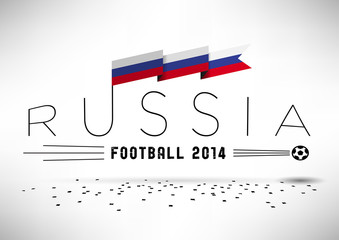Russia Football Typographic Design
