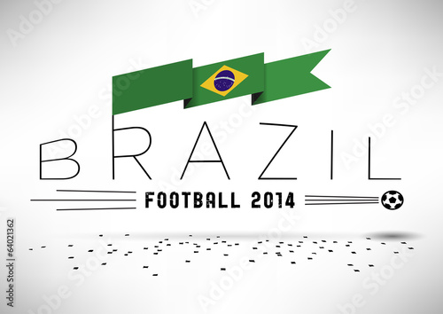 Brazil Football Typographic Design