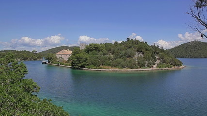 Small island in national park Mljet, Croatia