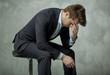 Sad businessman without the achievement