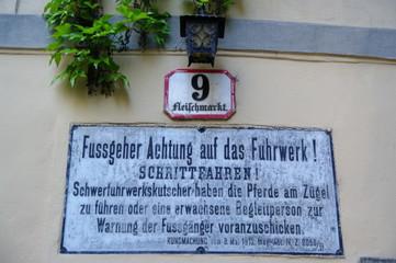 Schild Fussgeher Fuhrwerk 4