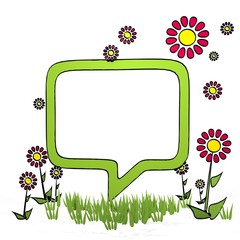 spring flower speech balloon