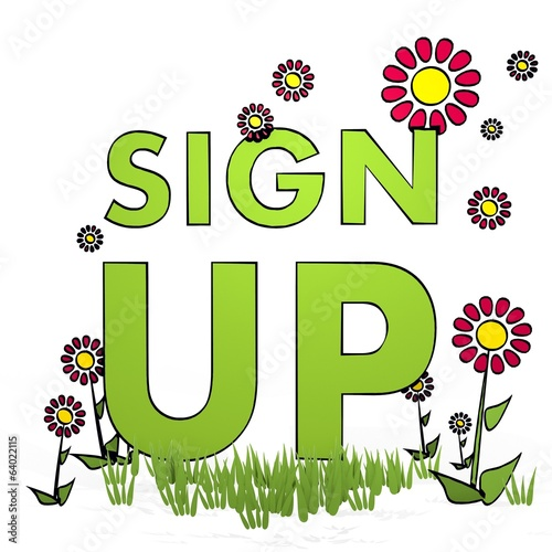 spring flower sign up