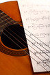 Classical guitar and notes
