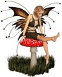 Pretty Fairy Sitting on a Toadstool
