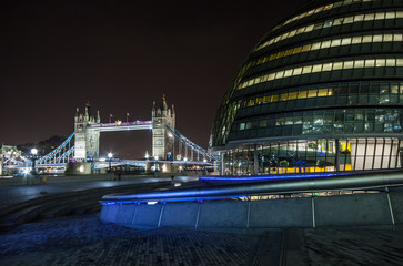 Tower Bridge and City Hall