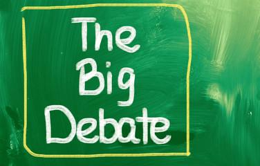 The Big Debate Concept