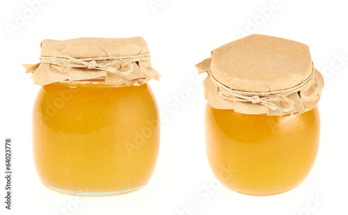Closed honey jar