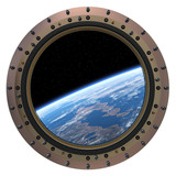Fototapeta Space Station Porthole.