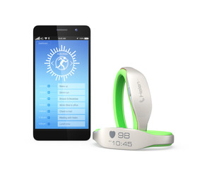 Smart wristbands and smartphone