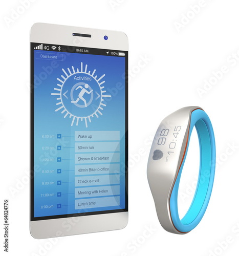 Smart wristband and smartphone