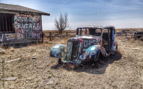 HDR picture of vintage car