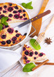 Cheese Casserole with currant and mint