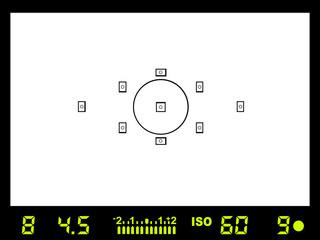 Camera viewfinder - vector