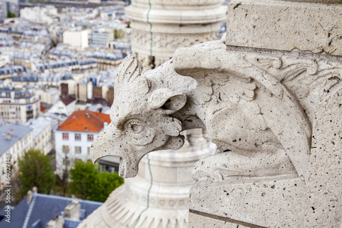 Paris, France. Architectural detail of the Sacre Coeur