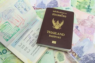 Thailand Passport on Thailand Banknotes