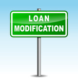 Vector loan modification signpost poster