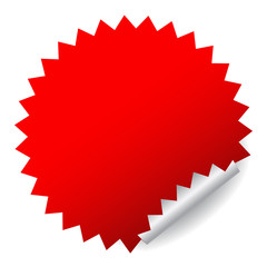 Vector red sticker