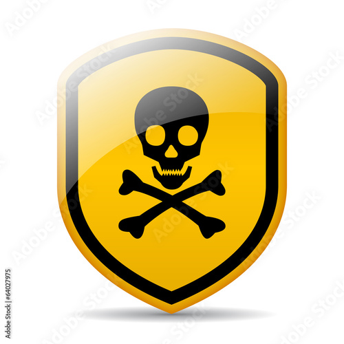 Vector danger skull sign