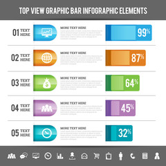 Top View Graphic Bar Infographic Elements