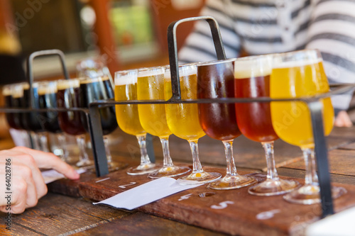 Fotobehang Bier Beer tasting