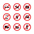 Restriction icon set