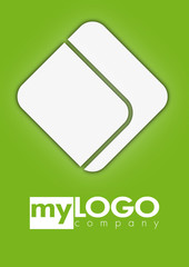 Business logo rectangle design