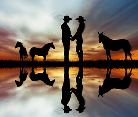 Lovers and horses