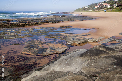 Rocky Beach Seascape at Low Tide