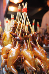 Duckling skewers