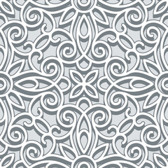 Grey lace texture, seamless pattern