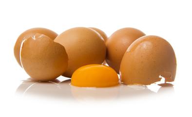 Yema de huevo fresco
