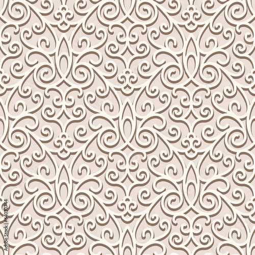 Beige seamless pattern, ornamental background