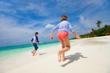 Kids having fun at beach