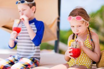 Kids at luxury resort