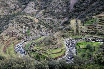 Meandro del río Malvedillo, Fragosa, Hurdes, España