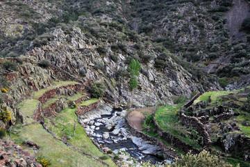 Meandro del río Malvedillo, Gasco, Hurdes, España