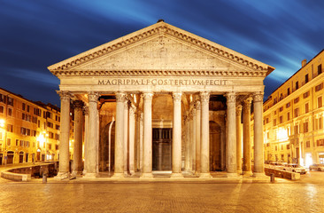 Rome - Pantheon at night