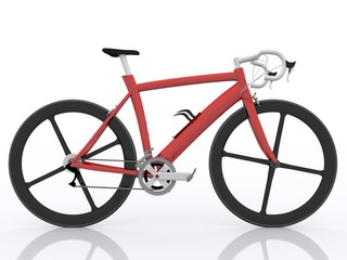 Seitenansicht Rennrad