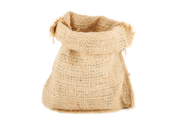 А linen sack from natural raw material