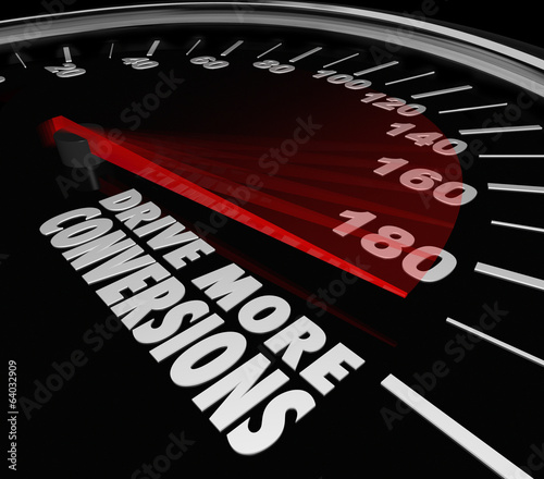 Drive More Conversions Words Speedometer Boost Increase Sales Pr