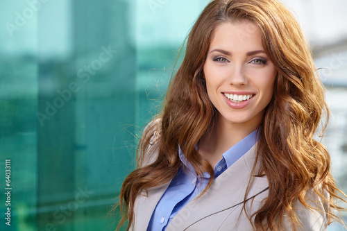 Attractive Real Estate Agent Woman