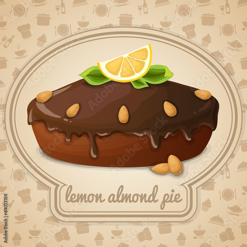 Lemon almond pie emblem