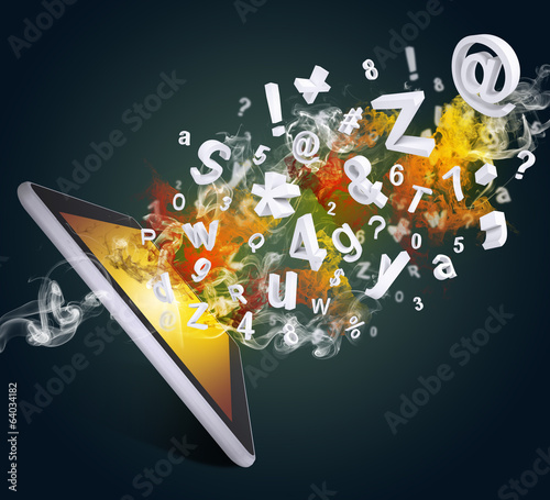 Tablet pc emits letters, numbers and smoke