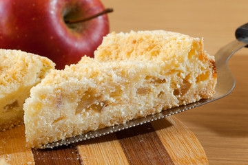 piece of cheesecake with apple