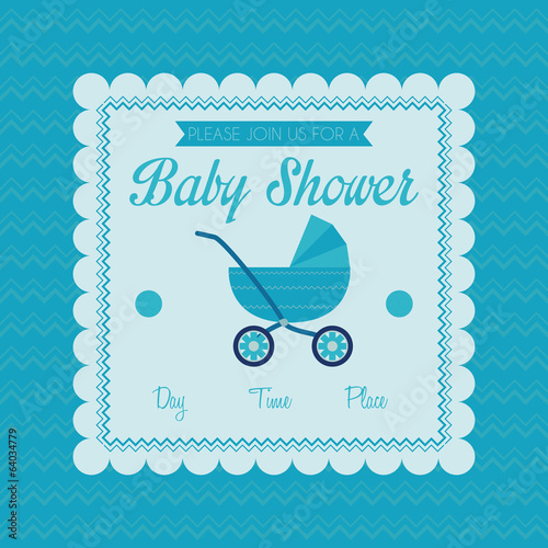 Baby Shower Template Card Illustration Editable