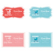 Постер, плакат: Baby Shower Template Cards Illustration Editable
