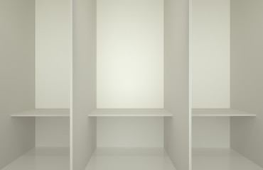 Photo of the white changing room