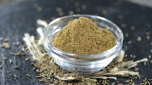 Caraway Powder in a bowl (loopable)